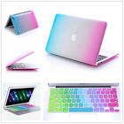 """Colorful Rubberized Hard Case+Keyboard Cover For Macbook Pro 13""""/15"""" Air 11""""/13"""""""