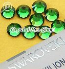 GENUINE Swarovski Fern Green (291) Hotfix Rhinestone Iron On Round Crystal Gem