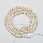 15'' Rice White Freshwater Natural Real Pearl Loose Beads 4/5/6/7/8/9/10/12/13mm