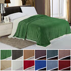 Sherpa Warm Comfortable Super Soft Reversible Throw Plush Multi Color Blankets