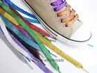 1Pair Canvas Sneaker Flat Shoe Laces Unisex Pearlized Shoelace Various Colors