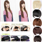 plenty colors clips in front bangs fringe hair extension straight curly wm