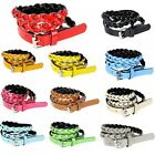 Women's Girls' Candy Color Faux Leather Skinny Thin Weave Braided Belt for Dress