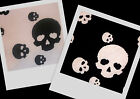 AWESOME! Black White Skull Stretch Lycra Knit Quality Fabric BTY ~ 2 colors