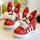 Autumn Spring Baby Child Kids Boys Girls 3D Dogs Face High Sports Boots Shoes