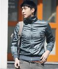 Stylish Men's Solid Color Stand-up Collar Casual Smooth Jacket Coat FUS