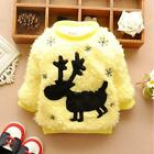 Kids Hoody Xmas Reindeer Sweater Fleeces Toddler Warm Outerwear Tops Winter FAE