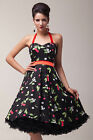UK CHEAP   New Vintage 1950s 60s Rockabilly Swing Party Bridesmaid Evening Dress