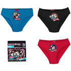 Monster High Girls 3 Pack Pants Knickers Briefs 4 5 6 8 9 10 Years