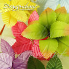 Small Wired Artificial Leaf Flowers Arrangement Stamen Wedding Millinery Craft