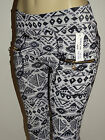 Geometric High Waist Zipper Aztec Tribal Print 4 Pockets Leggings Pants OZ