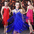 Sexy Woman Evening Club Cocktail Party Ballroom Latin Salsa Dance Fringe Dress