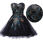 1 Peacock Pattern Masquerade Prom Dress Homecoming Graduation Party Evening Gown
