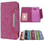 For Samsung Galaxy S4 Magnetic Diamond Cover Flip Leather Wallet Card Slot Case