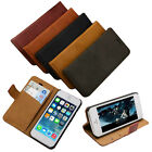 Retro Vintage Flip Leather Slim Wallet Card Case Cover For Apple iPhone 5 5S