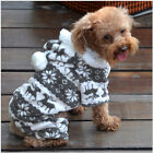 Warm Winter Soft Hoodie Jumpsuit Coat Clothes Costume For Pet Dog Puppy HOT Cute