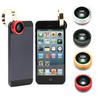 3 in 1 Fisheye Lens+Wide Angle+Micro Lens for Apple iPhone 4/ 4S/ 5/5C/5S/6 Hot