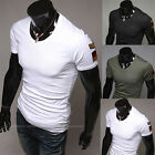 Trendy Men's Sexy Slim Fit Short Sleeve Round Neck Casual T-Shirt Base Shirt
