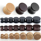 14x Mixed Organic Wood Double Flared Saddle Ear Tunnel Plugs Expander Stretcher