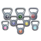 Vinyl Kettlebell weights KettleBells 2kg-14kg Strength Training Home Gym Workout