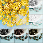 Approx 70-80Pcs Iron Filigree Flower Bead Caps 4x6x6mm Jewelry Findings 6 Colors