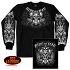 "Long Sleeve T-shirt  ""Ride or Die Biker for Life"""