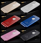 Luxury Real Aluminum Metal Glass Board Curved Hard Bumper Case Cover For iPhone