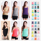 Womens sleeveless Stretchy Camisole Spaghetti Strap Plain Vest tank Top US