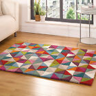 Flair Rugs Illusion Geometry 100% Wool Hand Tufted Rug