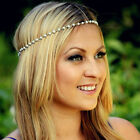 fashion hyperbole exquisite silver gold chain tassels jewelry metal hair band