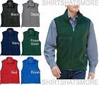 mens soft polar fleece vest sleeveless jacket