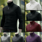 mens thermal cotton turtle polo neck skivvy turtleneck sweater stretch shirts PS