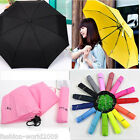 New Portable Waterproof Windproof Mini Compact Folding Handbag Umbrella 7 Colors