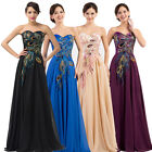 Newly Rockabilly 50s Vintage Style Prom Evening Cocktail Long Peacock Dress 6-20