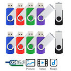 10PCS 1GB/2GB/4GB/8GB/16GB Rotating USB 2.0 Flash Pen Drive Memory Sticks U Disk