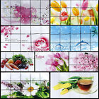 Aluminum Foil Oil Proof Wall Sticker Vegetables Flowers Decals Kitchen Decor DGK