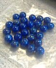 DYED HOWLITE (LAPIS COLOUR)  ROUND GEMSTONE BEADS - 3 SIZES 4mm, 6mm 8mm
