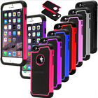 "2 in 1 Cases Cover Rugged Rubber Matte Anti-shock For iPhone 6 Plus 4.7"" 5.5""New"