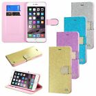 Bling Glitter Wallet Leather Stand Pouch Cover Case For iPhone 6 6S Plus 5.5""