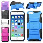 Heavy Duty Rugged Armor Impact Hybrid Stand Dual Holster Case For iPhone 6 4.7""