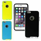 "For Apple iPhone 6 Plus 5.5"" Premium Hybrid PC Hard Frame TPU Gel Cover Case"