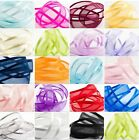25 METRES SATIN EDGE ORGANZA RIBBON 10mm, 15mm, 25mm, 38mm various colours