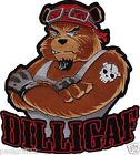 Large Dilligaf Bear Embroidered Biker Patch