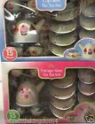 New 15 piece children's tin tea set role play playset toy vintage rose / cupcake
