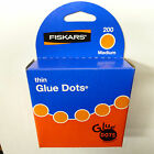 """Glue Dots Adhesive removable thin 1/2"""" inch size 200 per box craft scrapbook new"""