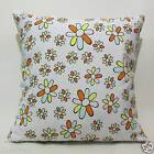 FFA-191 SIMPLIFIED FLOWERS ON WHITE Canvas Cushion/Pillow Cover Custom Size