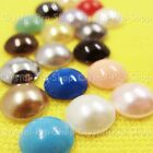 Genuine Swarovski (Hotfix) Pearl Cabochon 7mm Iron on ss34 Crystal Rhinestones