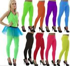 NEON METALIC /  WET LOOK LEGGINGS 80'S FANCY DRESS TUTU PARTY