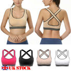 Womens Yoga Sports Bra Crop Top Vest Comfort Stretch Bras Shapewear Padded