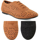 MOGAN SHOES Ballerina Lace Up Perforated Oxford FLATS Rounded Toe Suede Loafers